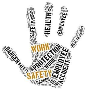 AS 4801 OHS management systems Australia hand-shaped word cloud