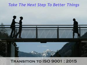 ISO 9001 2015 transition